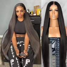 250 Density 30 40 Inch Straight Lace Front Wig Brazilian 13x4 Hd Lace Frontal pre plucked Bob Wigs F
