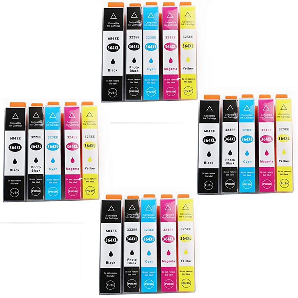 20 tinta hpges modelo hp364xl hp 364xl 364xl compatível com impressoras photosmart c 5300 c 5320 c 5324 c 5370