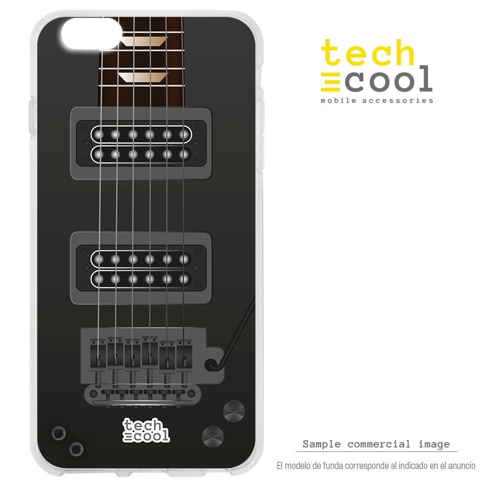 FunnyTech® Funda Silicona para Iphone 7 / 8 l Diseño Guitarras famosas Ibanez RG