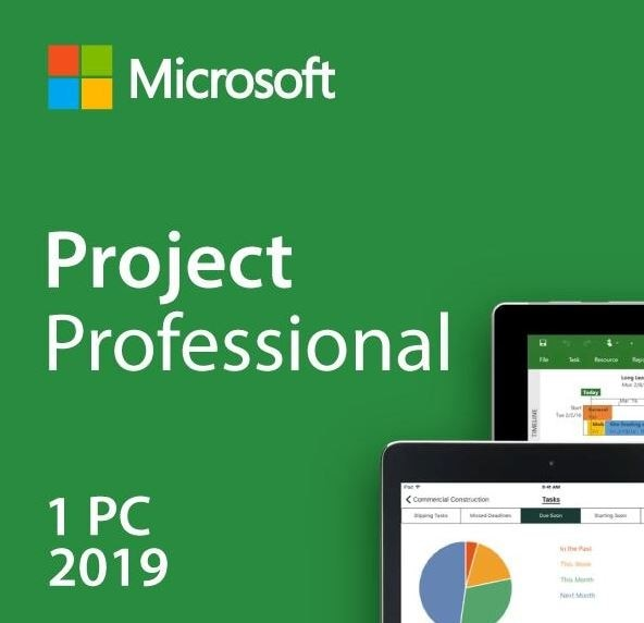 Microsoft Project 2019 Professional Digital Licence Key 32/64Bit Global All Languages 3 Minutes Delivery