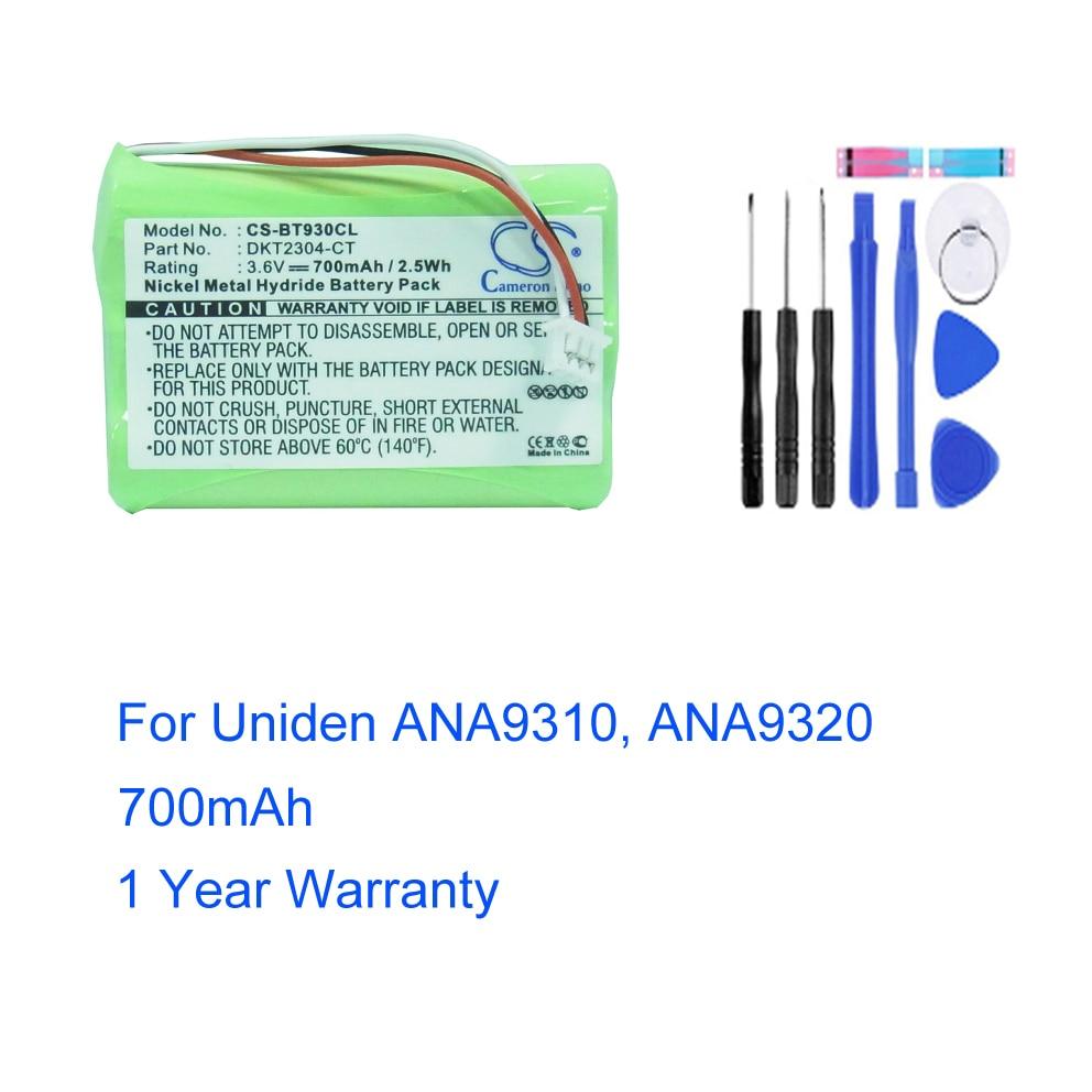 BT-930 para Uniden ANA9310 ANA9320, batería de repuesto de teléfono inalámbrico, Accu,...
