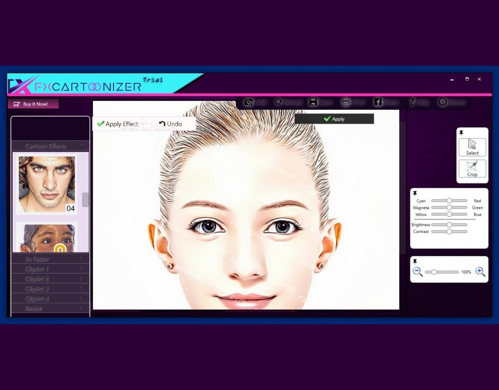 You can convert all of your pictures and images into cartoon FX-Cartoonizer-v1.4.8 Final Full for PC enlarge