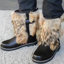 Mongolie ki hommes court naturel coyote feutre-semelle en caoutchouc, bottes, hiver, en cuir véritable et fourrure, chasse, pêche