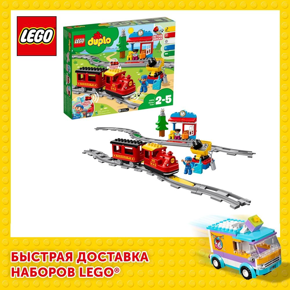 Конструктор LEGO DUPLO 10874 Поезд на паровой тяге|Блочные конструкторы| | АлиЭкспресс