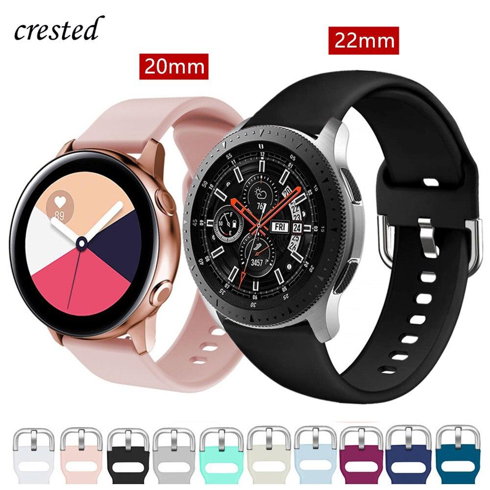 20/22 мм ремешок для Samsung Galaxy watch 46 мм/42 мм/Active 2 ремешок Gear S3/S2/спортивный силиконовый браслет Huawei watch GT 2 ремешок 46/S 3