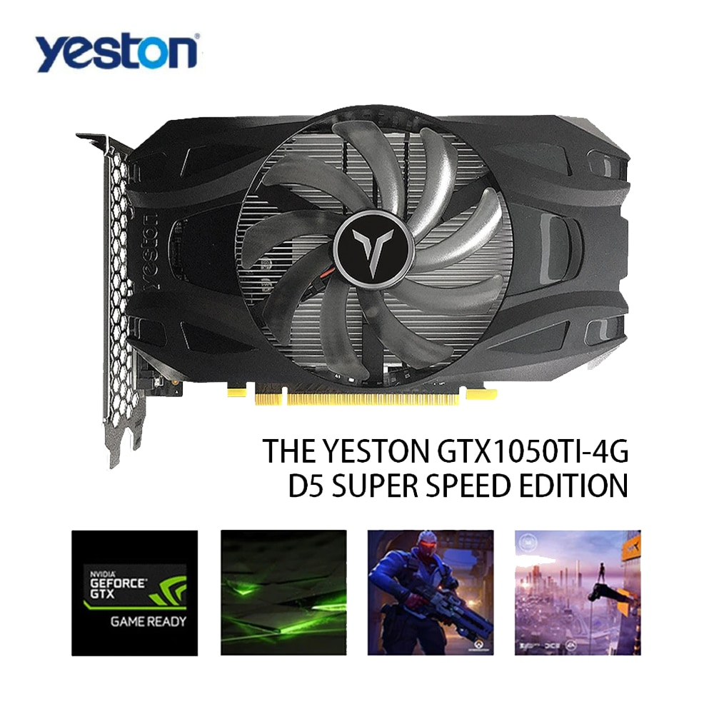 Yeston GTX1050Ti-4G D5 TD Graphic Card NVIDIA Pascal 1291/1392MHz 14nm 4G/128bit/GDDR5 Graphics Card