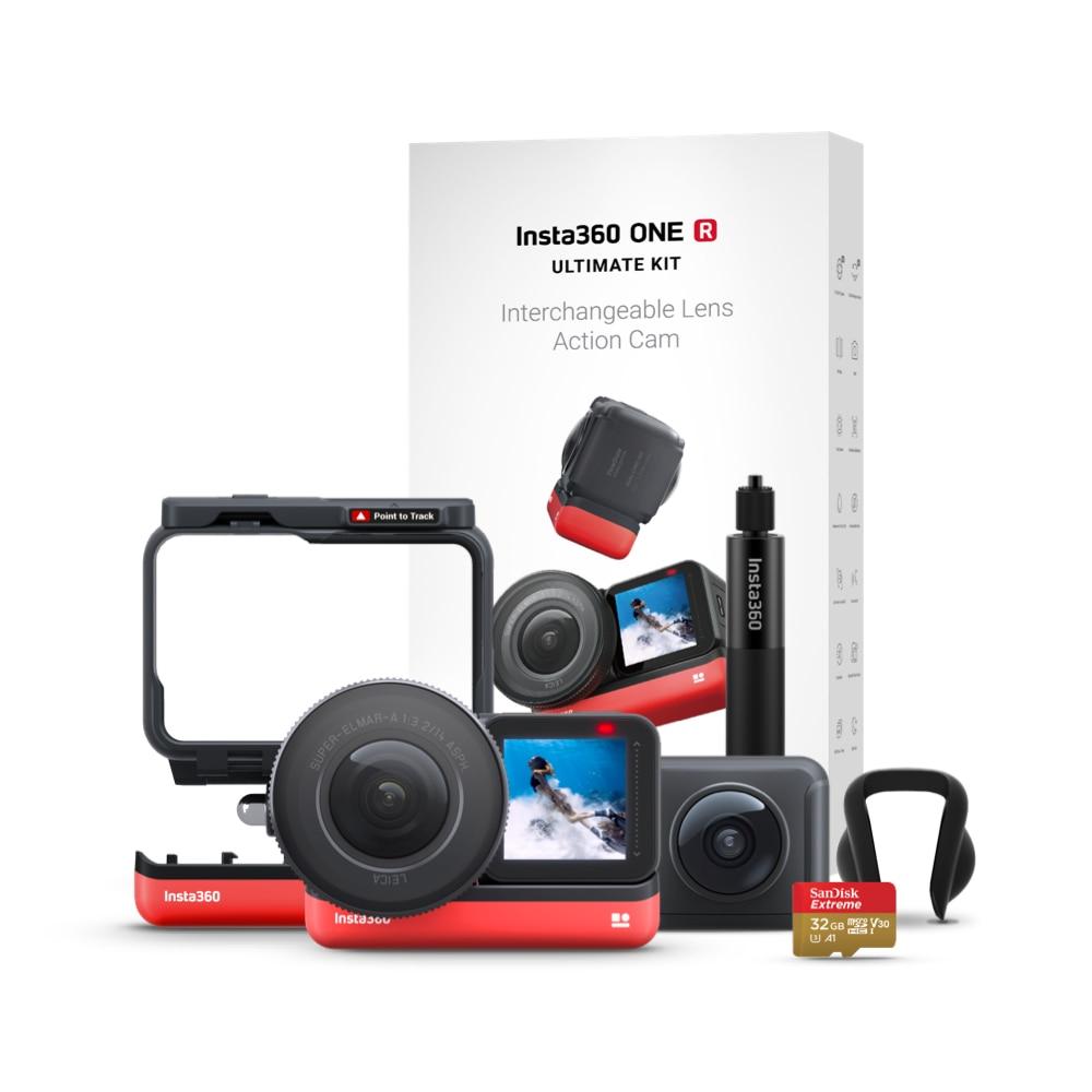 Insta360 ONE R Ultimate Kit 5.3K 1-Inch Sensor Action Camera & 5.7K 360 Camera Interchangeable Lenses Stabilization Waterproof
