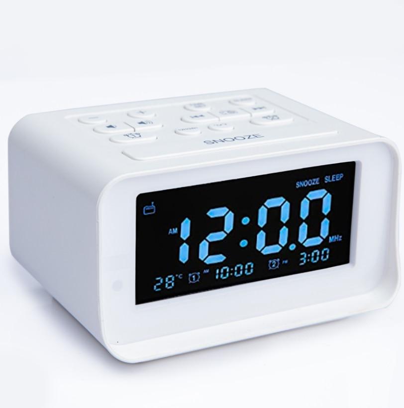 2021 New HOT FM RADIO Speaker 87.5-108MHZ LED Digital Bedroom Alarm Clock With USB Charging Radio Temperature Electronic Clock enlarge