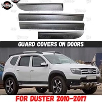 guard covers on doors for renault dacia duster 2010 2017 abs plastic accessories protective plate scratches car styling tuning