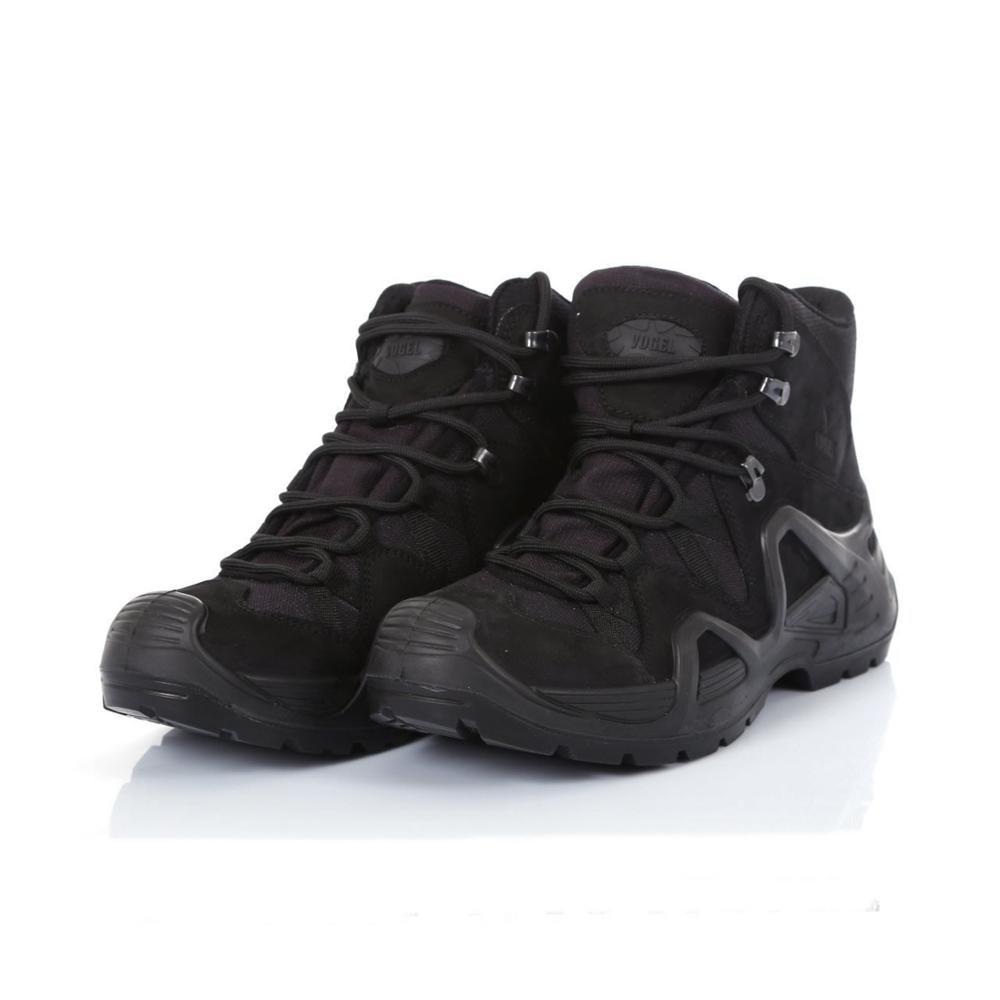VOGEL LOWA الرجال العسكرية حذاء بوت بنصف رقبة جودة قوة خاصة التكتيكية الأسود الشرطة الكاحل قوارب أحذية عمل أحذية جلدية الثلوج