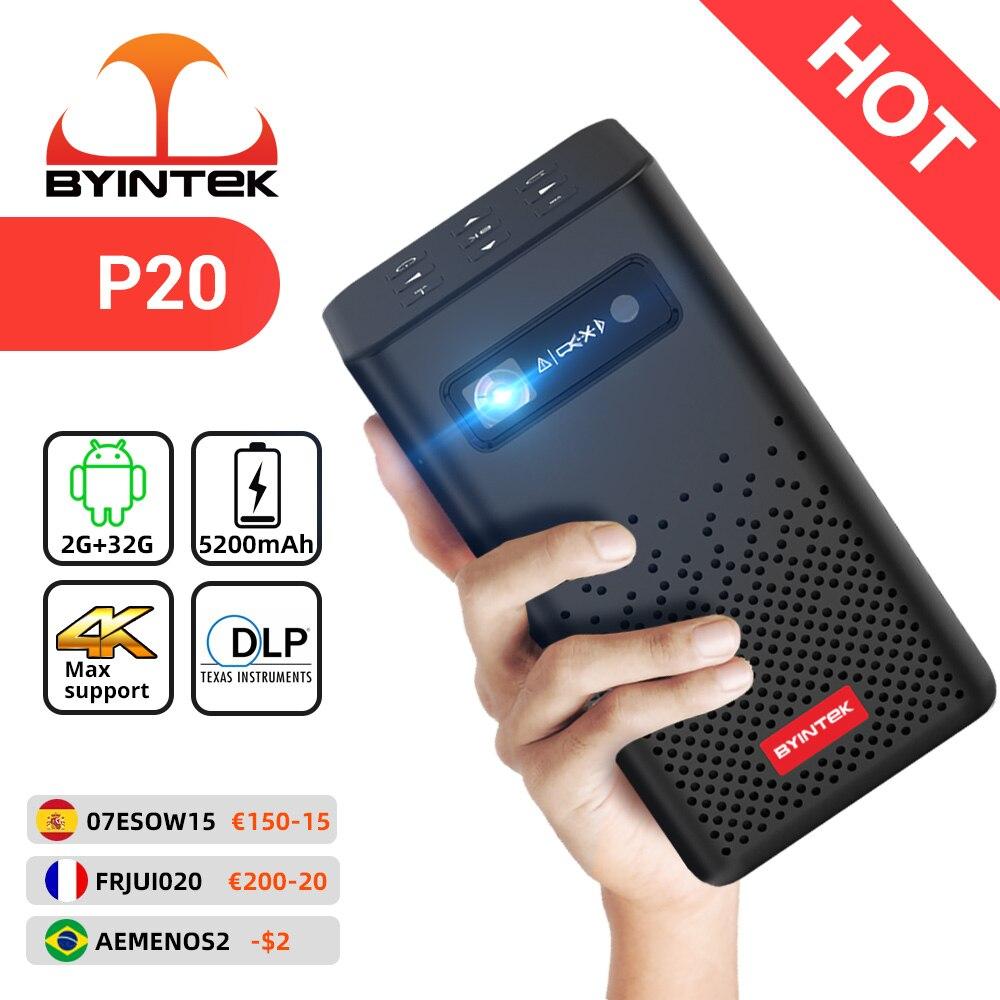 بيينتيك P20 جهاز عرض تلفاز صغير محمول يعمل بالواي فاي بنظام الأندرويد تلفاز بيكو LED DLP لكامل HD 1080P الهاتف الذكي المحمول الكمبيوتر 4K السينما