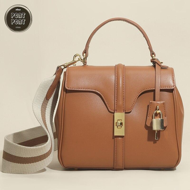 حقيبة يد نسائية كبيرة موضة 2021 حقيبة كتف حقيبة كروسبودي للنساء جلد طبيعي حقيقي للسيدات مصمم كيس الرئيسي