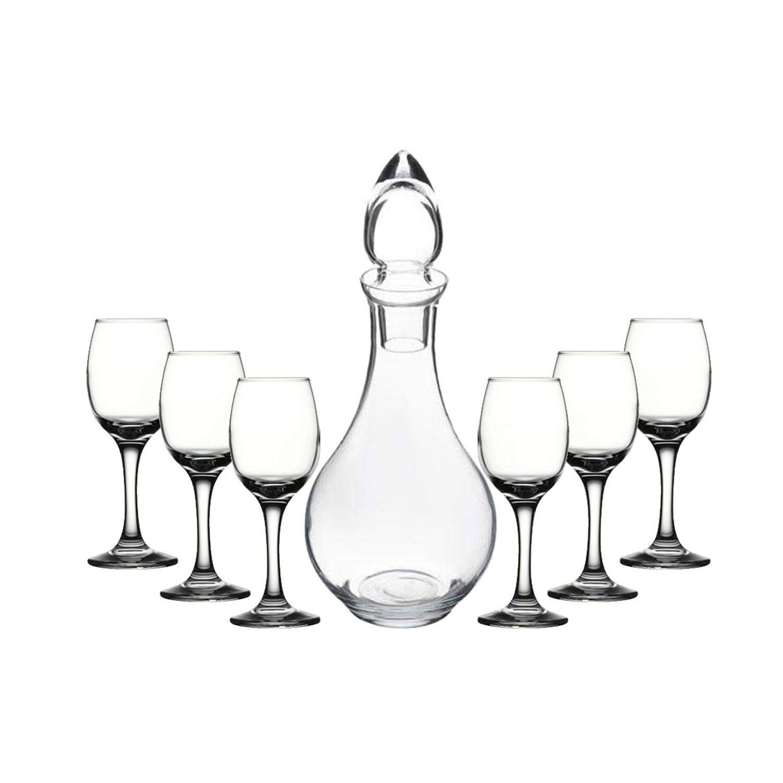 طقم محبوب زجاجي فاخر مكون من 7 قطع من PASABAHCE-شربات-بدلات زمزم-مجموعات دوريس