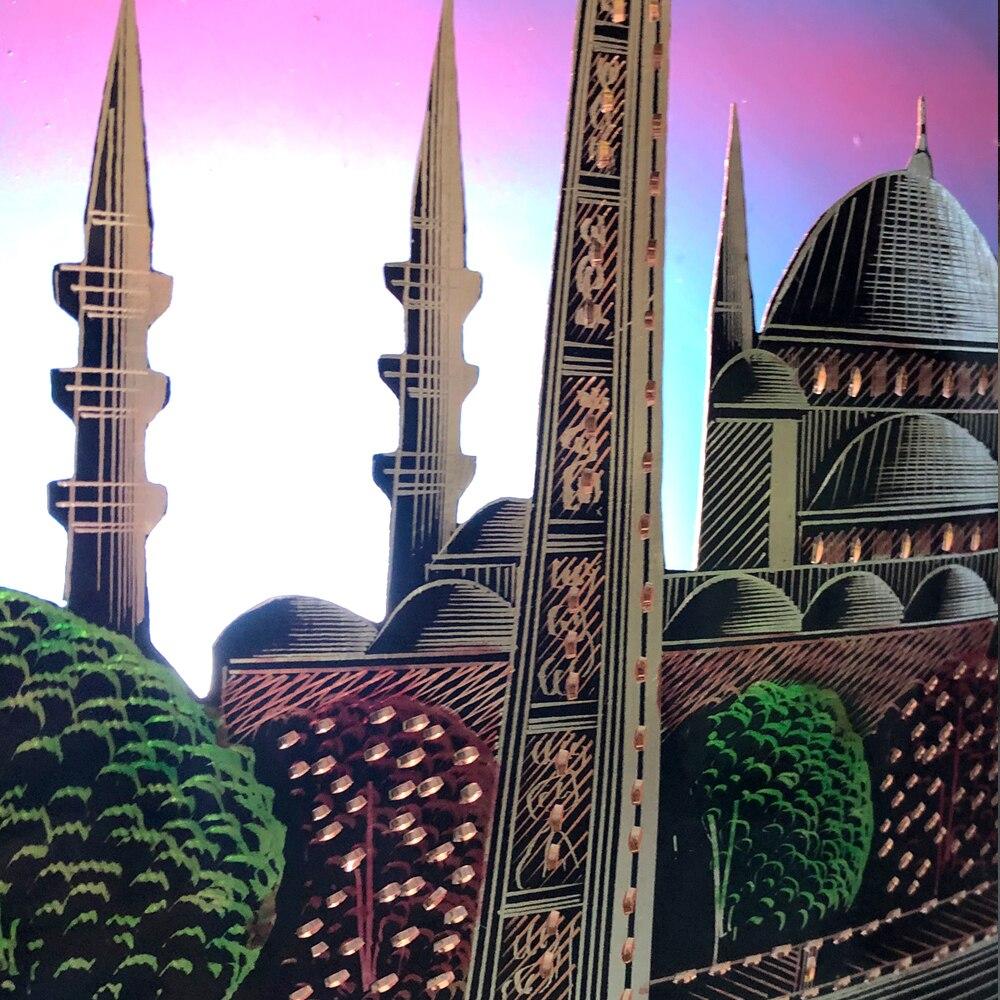 Night Lamp Turkish Sultan Ahmet Mosque Handmade Copper Obelisk Night light Motif Traditional Gift Decorative enlarge
