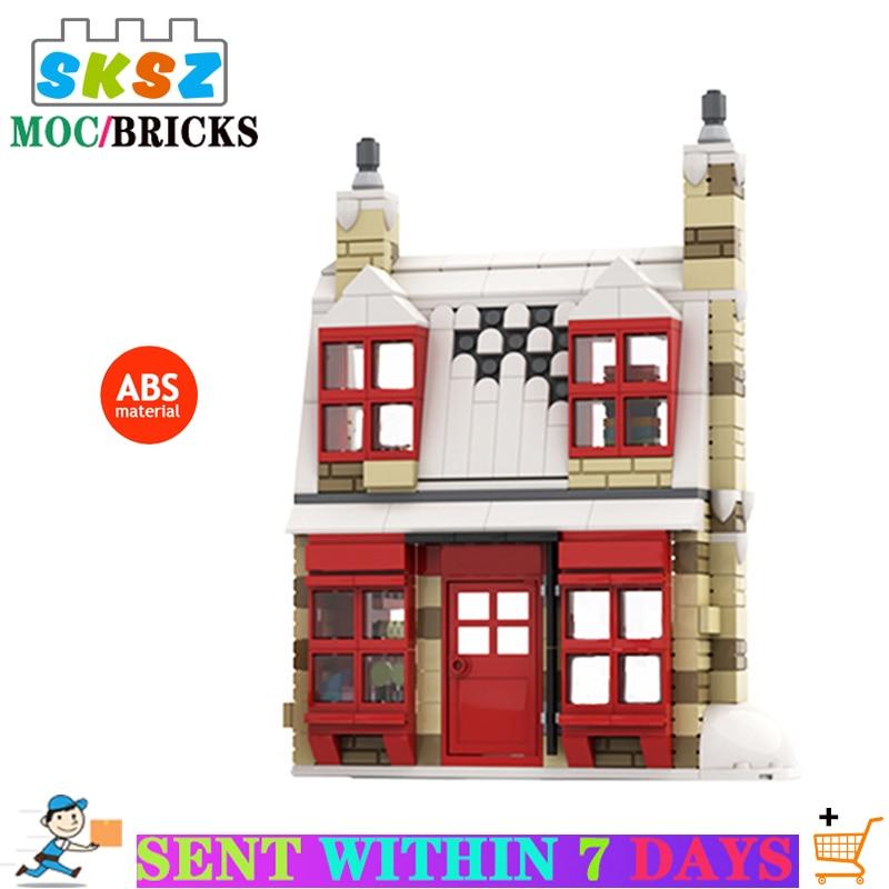Новинка город МОС Ресторан уличный вид серия кирпичная Архитектура игрушки для детей детские строительные блоки DIY Кирпичи игрушки подарки