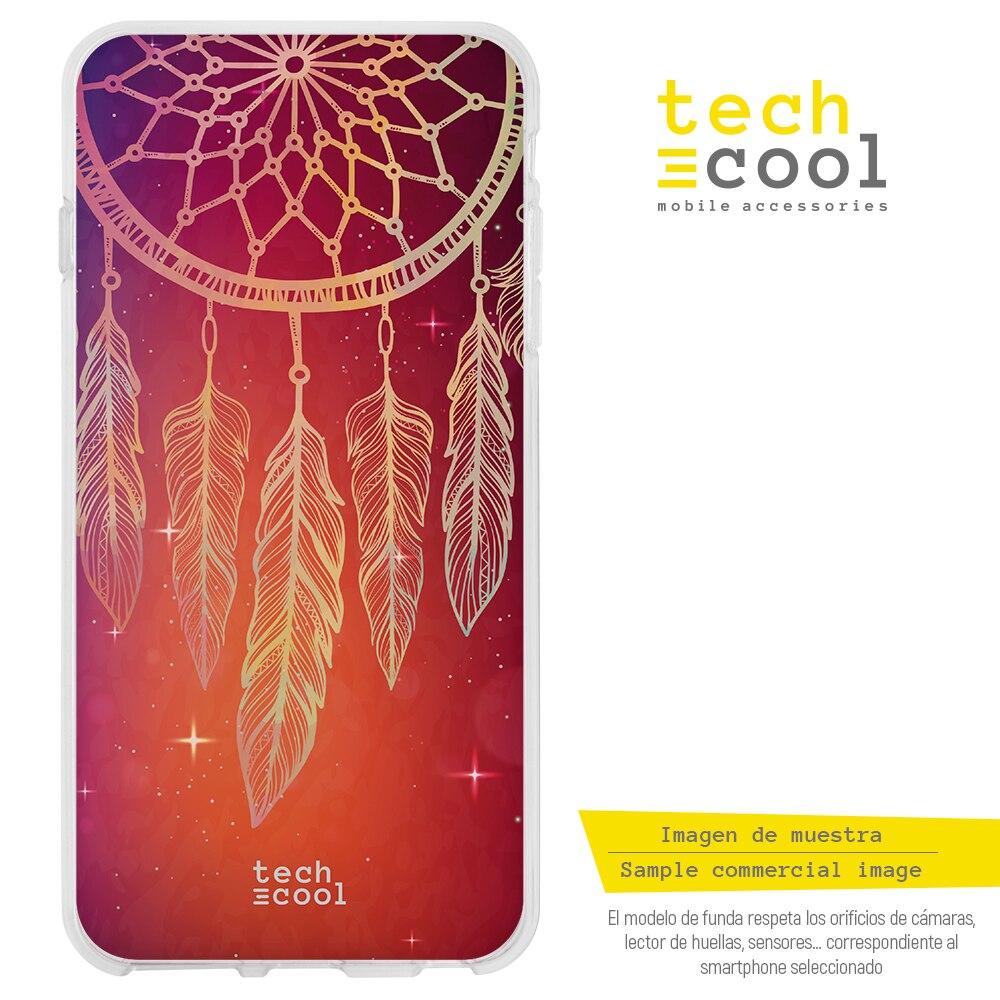 FunnyTech® Funda Silicona para Samsung Galaxy M30s l Atrapasueños fondo naranja