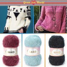Polyamide Knitted Yarn - 13 Color Options - 245 Meters(150gr) - Knitting Yarn Ball - Nako Paris - Pr