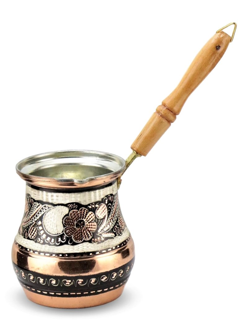Rose Flower Copper Milk Pot Coffee Pot