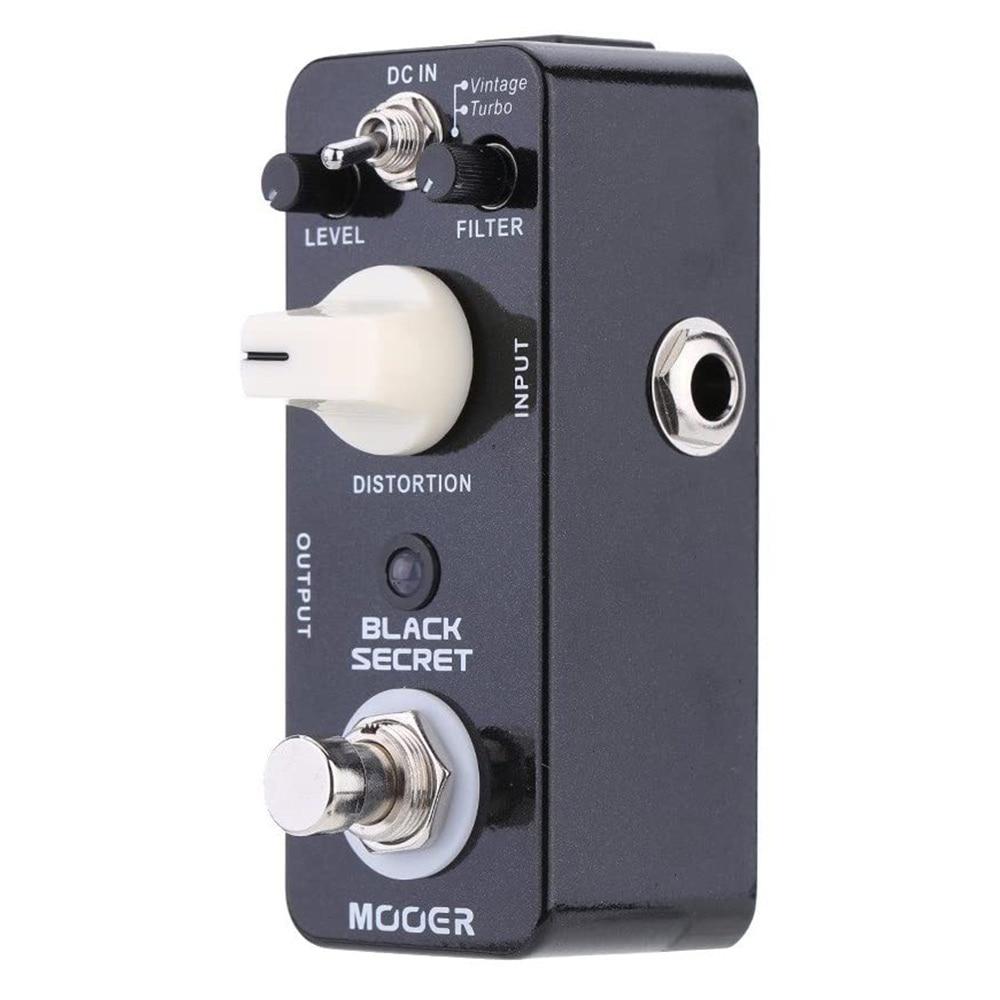 Efectos Mooer Pedal Mooer negro secreto Micro Mini distorsión guitarra eléctrica efectos Pedal True Bypass instrumentos musicales y DJ