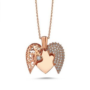 Top Quality Drop Heart Is Silver Necklace