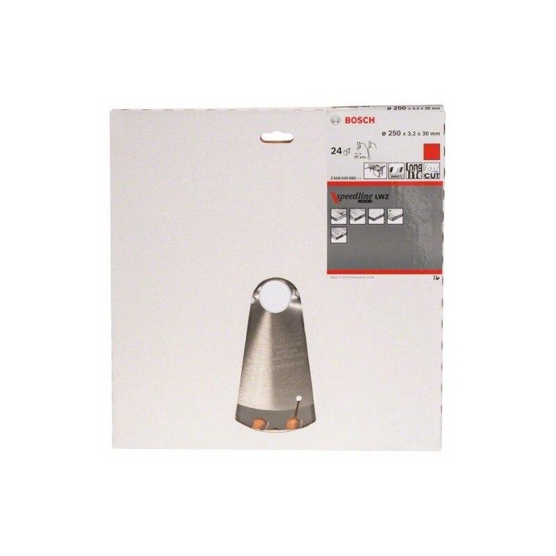 보쉬 2608640680 디스크 원형 톱 스피드 라인 우드 250x3, 2x30D 24WZ