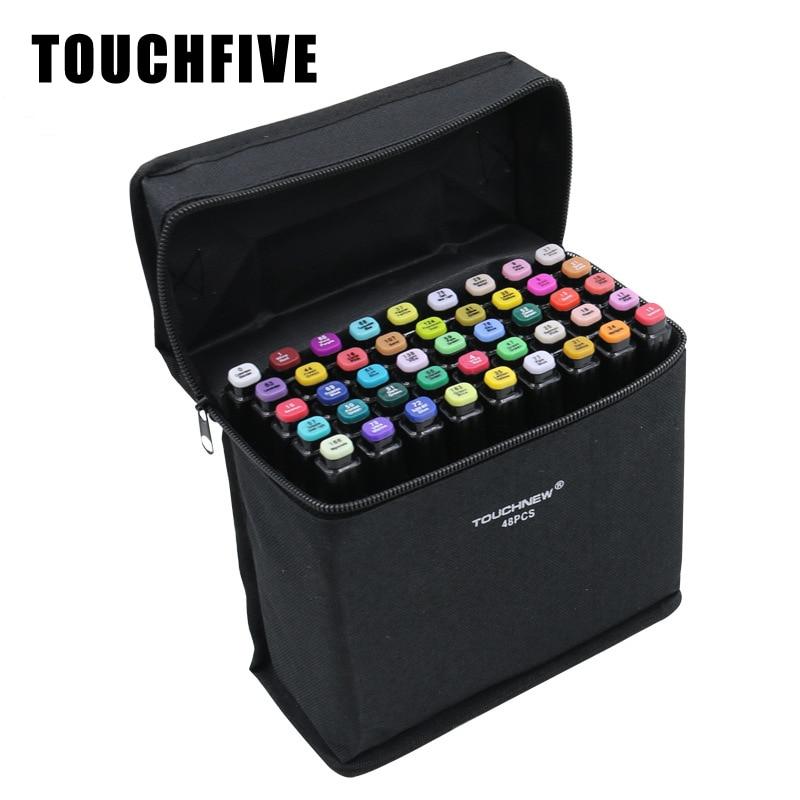 Rotulador de Alcohol Touchfive para dibujo de pintura de diseño 30 40 60 80 168 colores Rotulador con dos puntas marcadores de dibujo suministros de arte