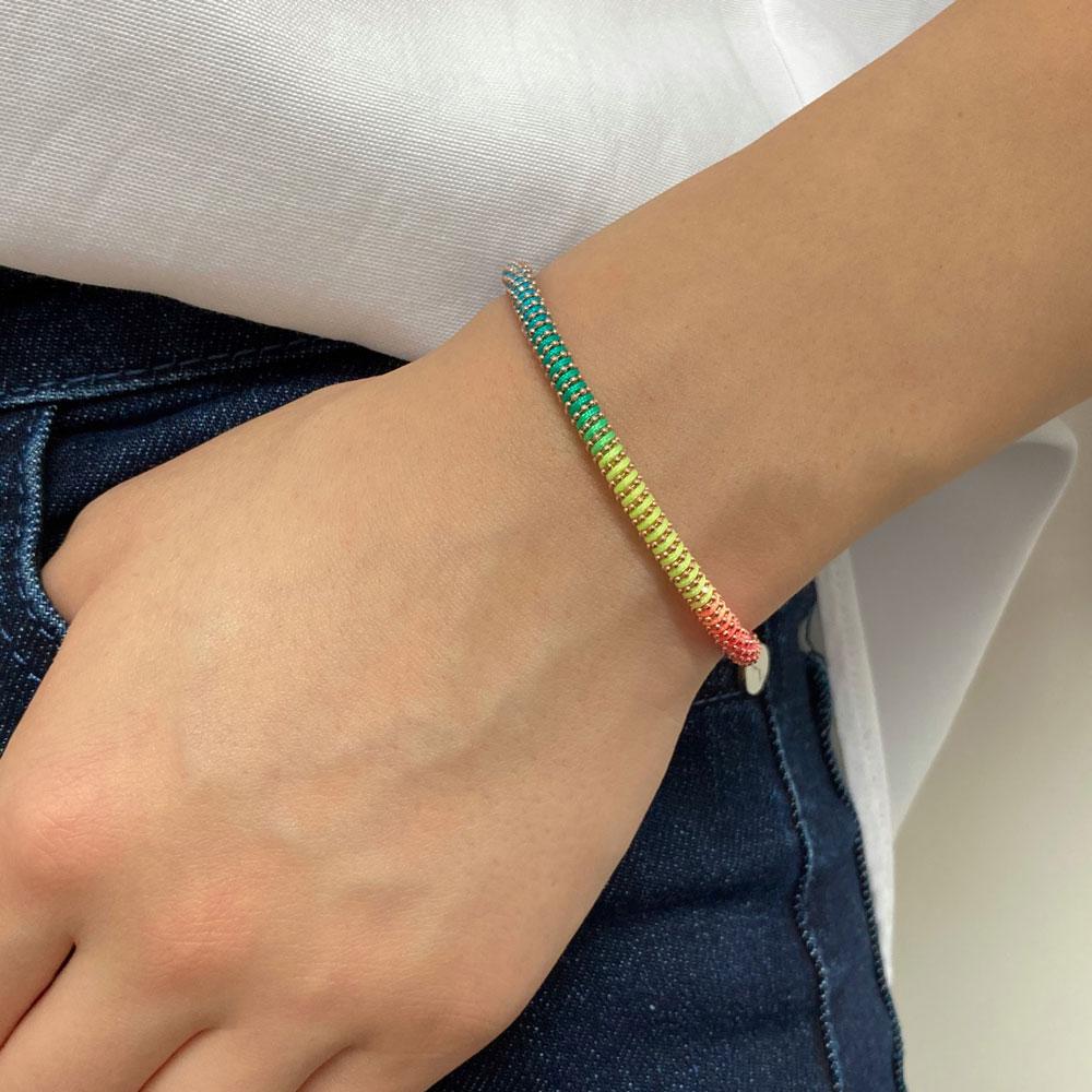 NEW Style Cheap Colorful Rainbow Braid Lucky Friendship Bracelet Ethnic Bracelet Jewelry For Women Silver 925