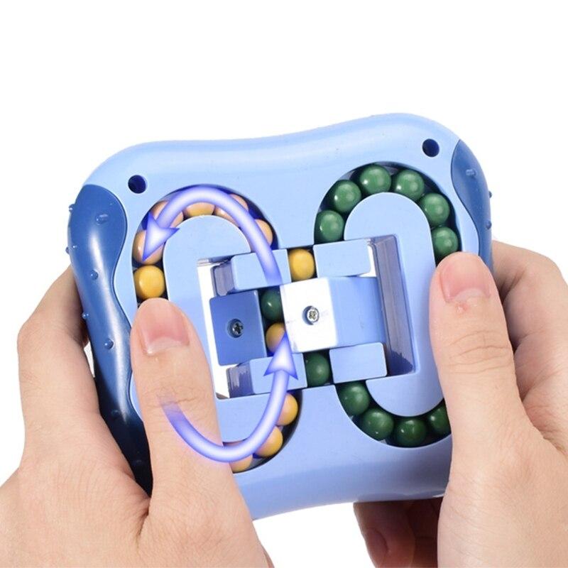 Rotating Magic Bean Intelligence Finger Tip Rubik's Cube Unzipped Magic Disk Finger Gyro Children's Burgeren's burger enlarge