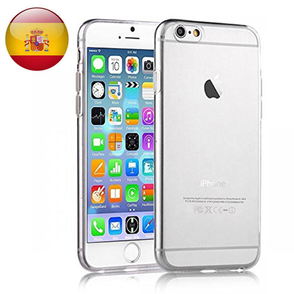Funda de gel TPU carcasa protectora silicona para Apple Iphone 6 6S Transparente