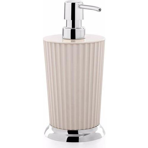 OceanLand Bathroom Set Hard Plastic Home Soap Dispenser Tooth Brush Toilet Waste Bin Hygienic Resistant Beige-White-Grey-Black enlarge