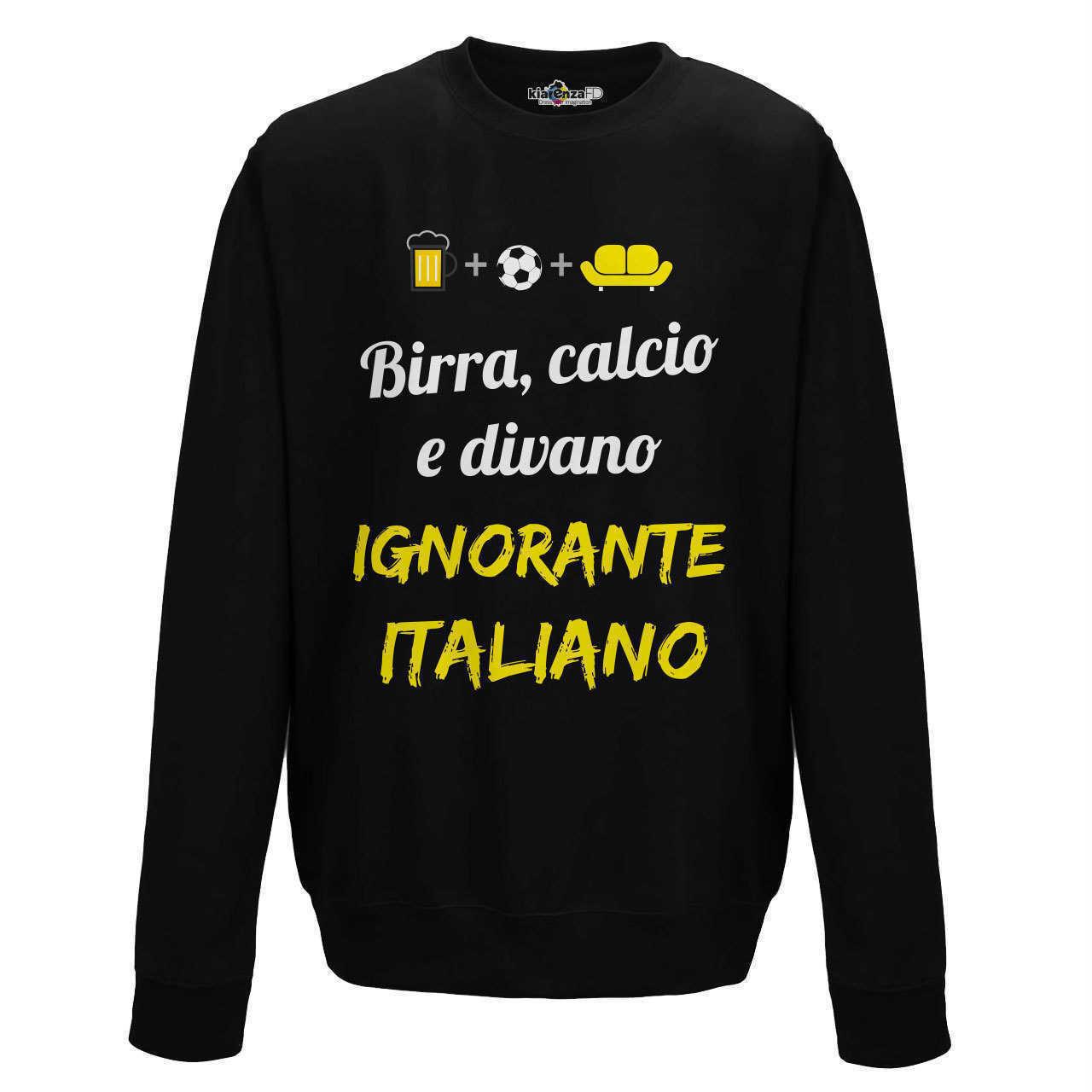 Sweat ras du cou hommes drôle Football mode drôle Ignorant italien bière S