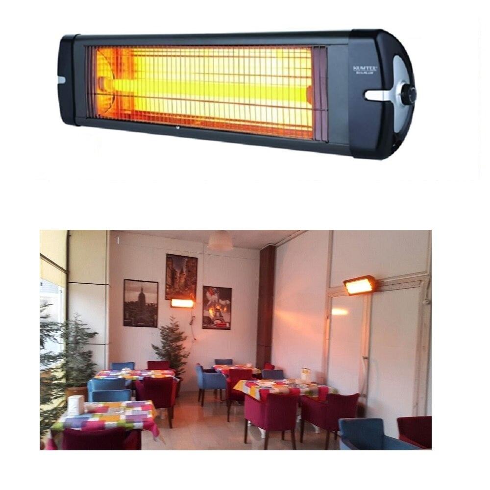 KUMTEL 2500 واط داخلي/خارجي موقد كهربائي لوحة الحائط الأشعة تحت الحمراء مدفئة أماكن مفتوحة مع ترموستات التدفئة 220 فولت