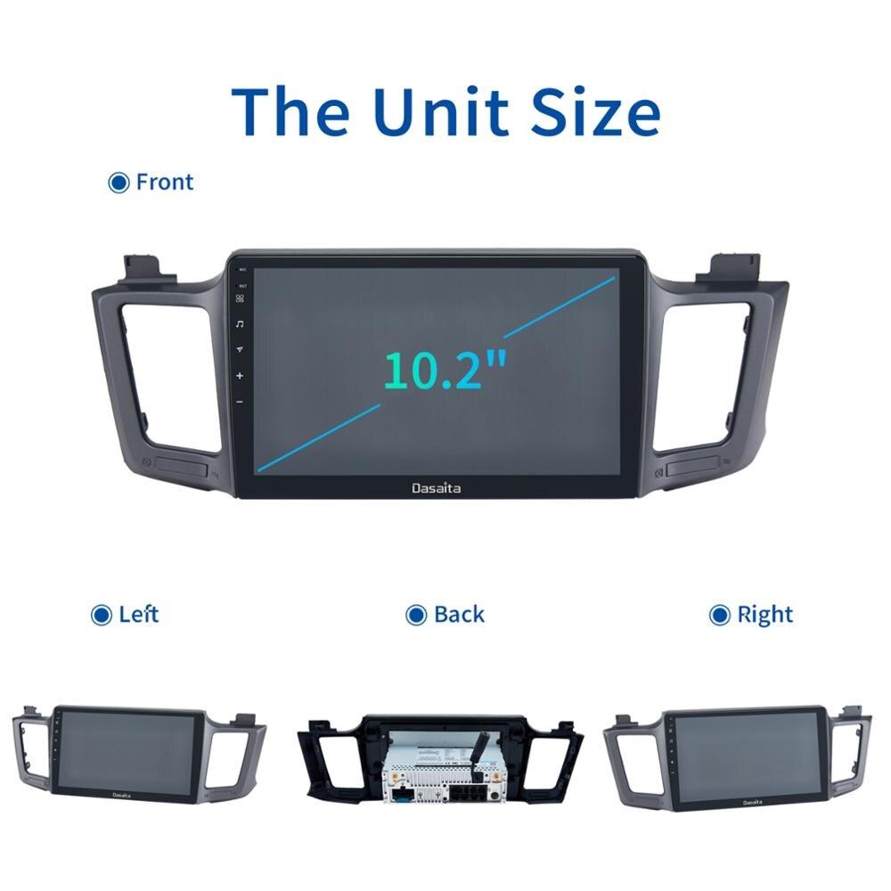 Dasaita 10 2 Ips Screen Android 10 0 Car Multimedia Radio For Toyota Rav4 Gps 2014 2015 2016 2017 Bluetooth Mp3 Max10 64g Rom Car Multimedia Player Aliexpress