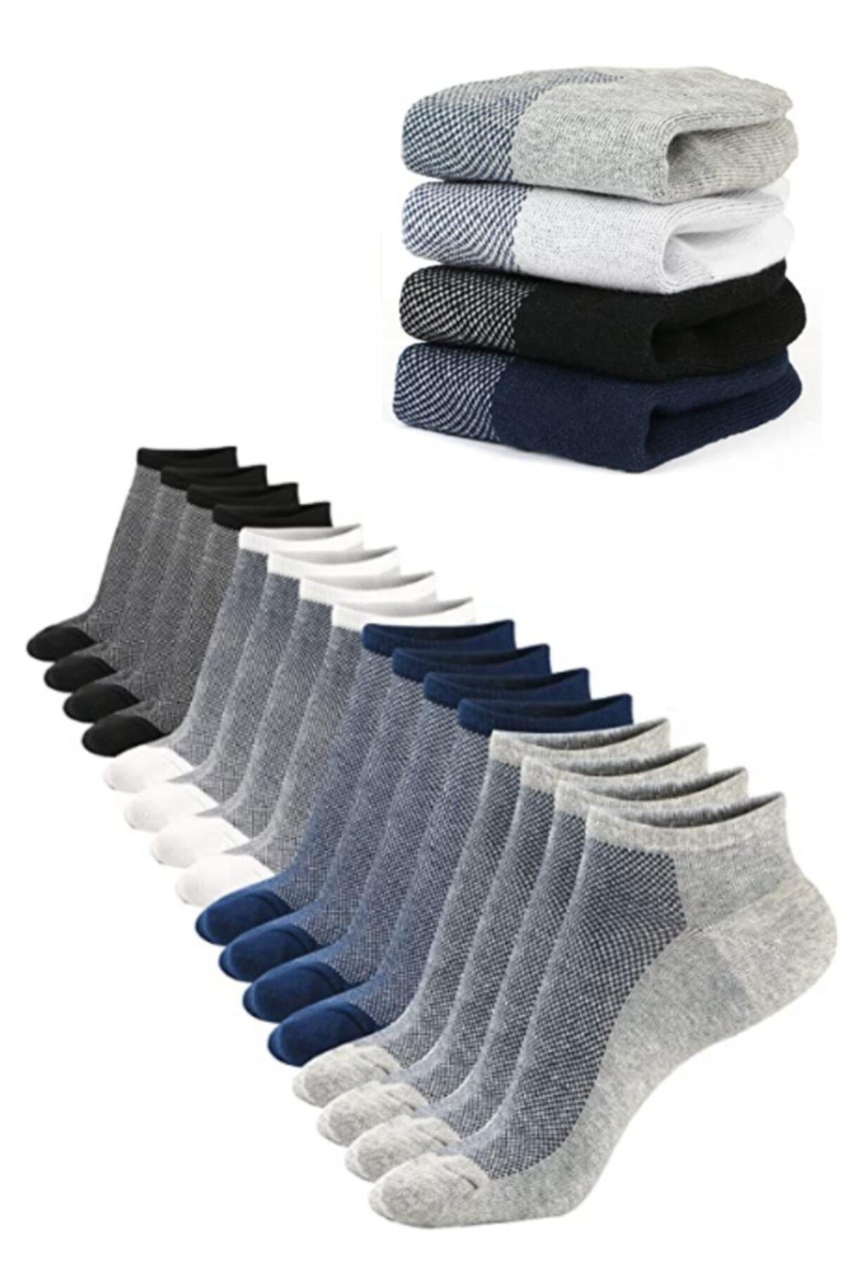 YENİ socksbox 10 Lu Erkek Dikişsiz Kısa Çorap( 41-45) NUMARALAR
