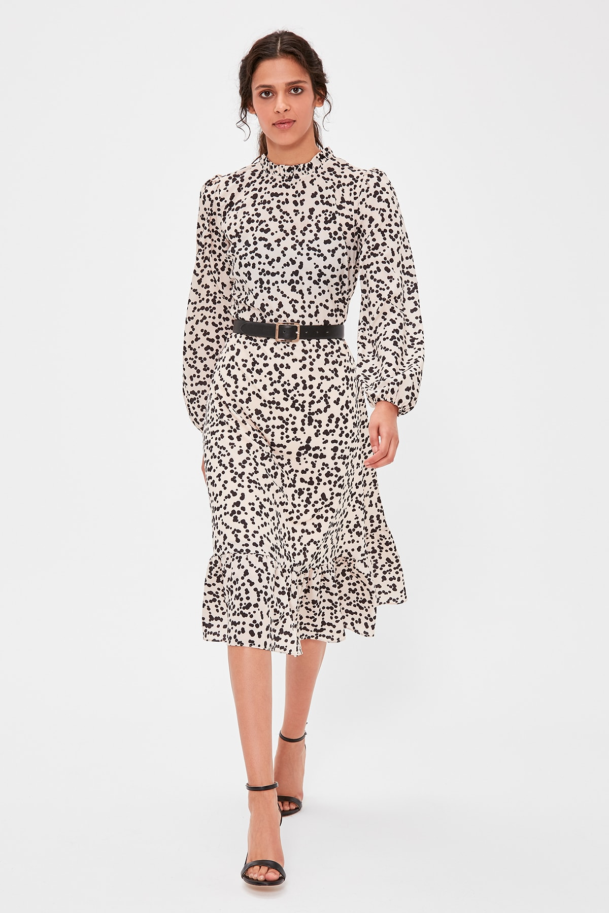 Trendyol Cream Patterned Dress TWOAW20EL1133