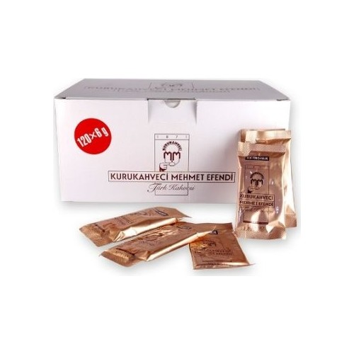 Turkish Coffee Kurukahveci Mehmet Efendi 6 Gr x 120 pcs. Special Grounded High Quality Coffee