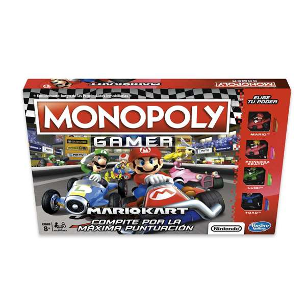 Jeu de société monopole Mario Kart Hasbro (ES)