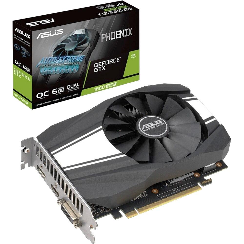 Видеокарта ASUS Phoenix nVidia GeForce GTX 1660 Super 1830MHz 6144MB 14000MHz 192 bit  RTL [PH-GTX1660S-6G]