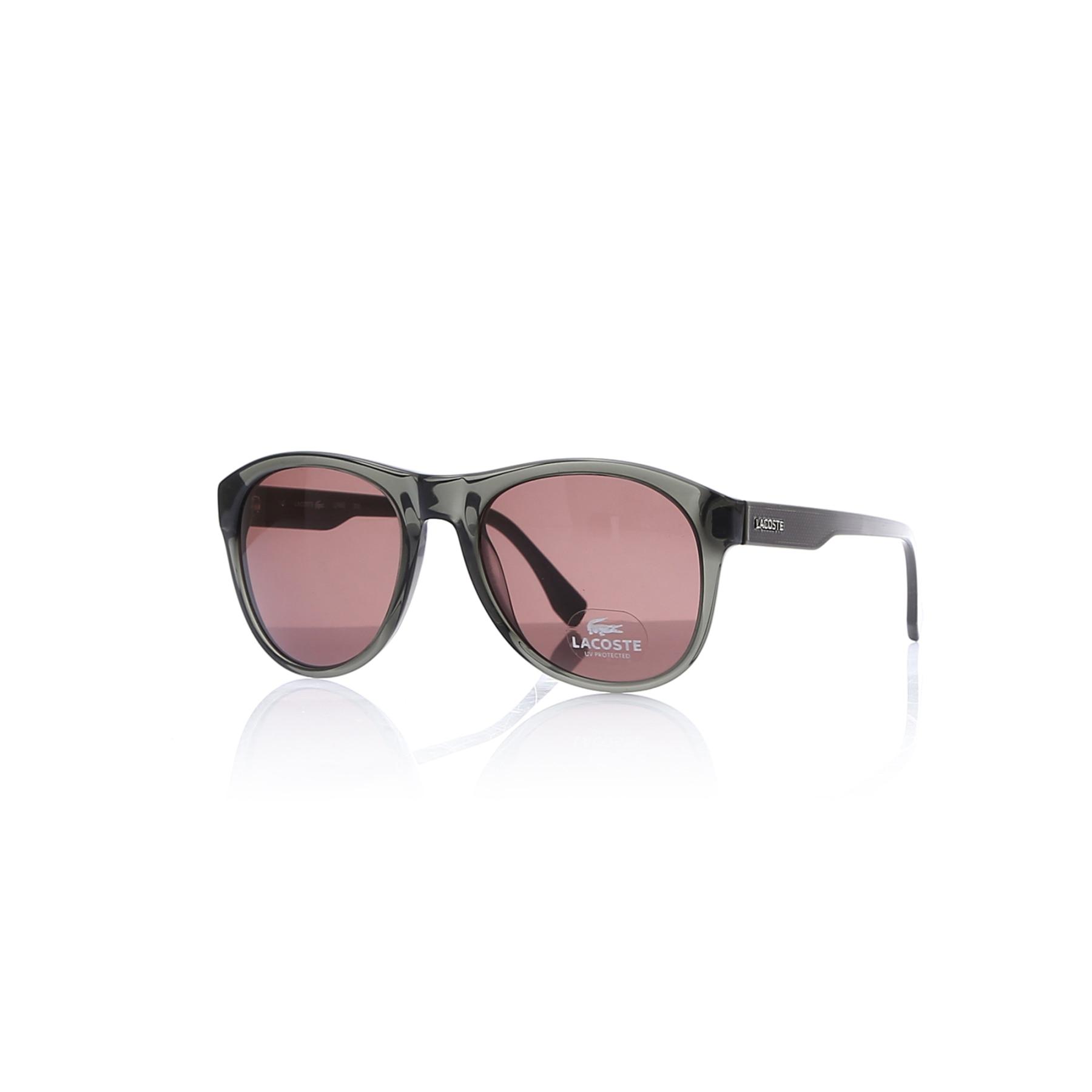 Gafas de sol para hombre lcc 746 315 hueso ahumado orgánico oval aval 58-20-145 lacoste