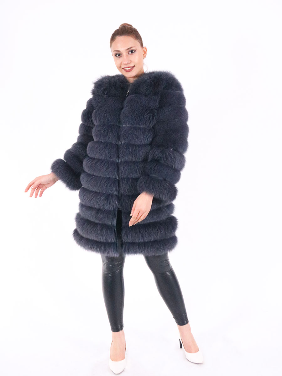 Fashion winter warm leather coat natural fox fur coat real fox fur jacket winter thick warm coat 2021