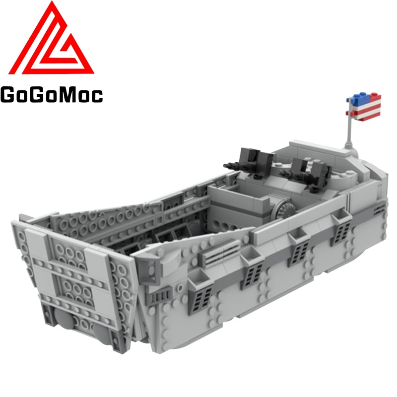 war accessories military cannon scenes guns weapons swat sandbag for land force moc building blocks toys for kid gifts legoingly Moc D-Day WWII Landing Craft Higgins Boat Building Blocks High-Tech Military Kayak Weapons Bricks Diy Toys For Children Gifts