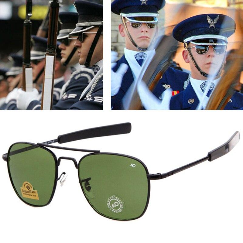 Quente de alta qualidade aviação óculos de sol homens marca militar do exército americano óptica ao óculos piloto óculos óculos óculos vidro lentes oculos