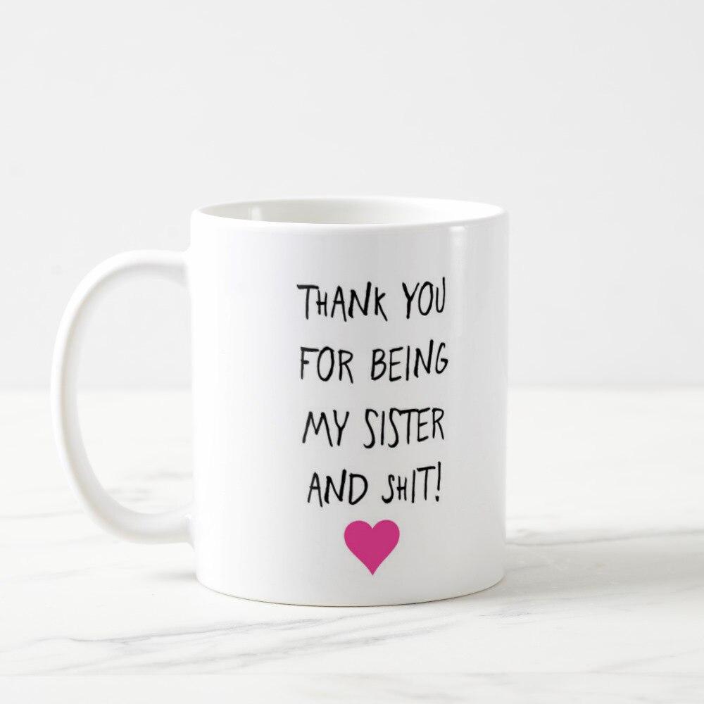 Hermana taza, hermana taza de café, Gracias hermana regalo hermana su regalo de agradecimiento, Gracias hermana, regalo para hermana, Gracias Fog taza