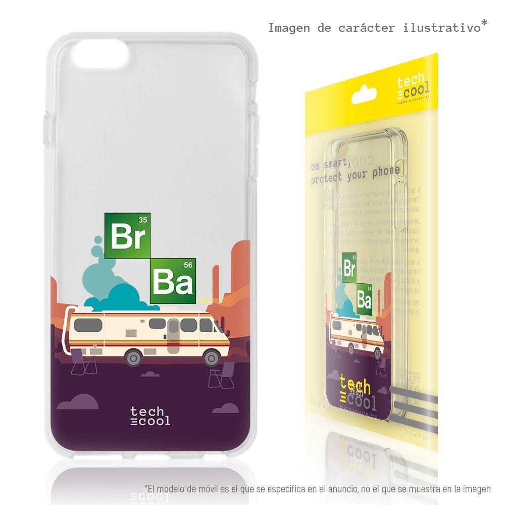 FunnyTech®Capa de silicone para iphone 6 plus/6s mais série quebrando caravana ruim transparente