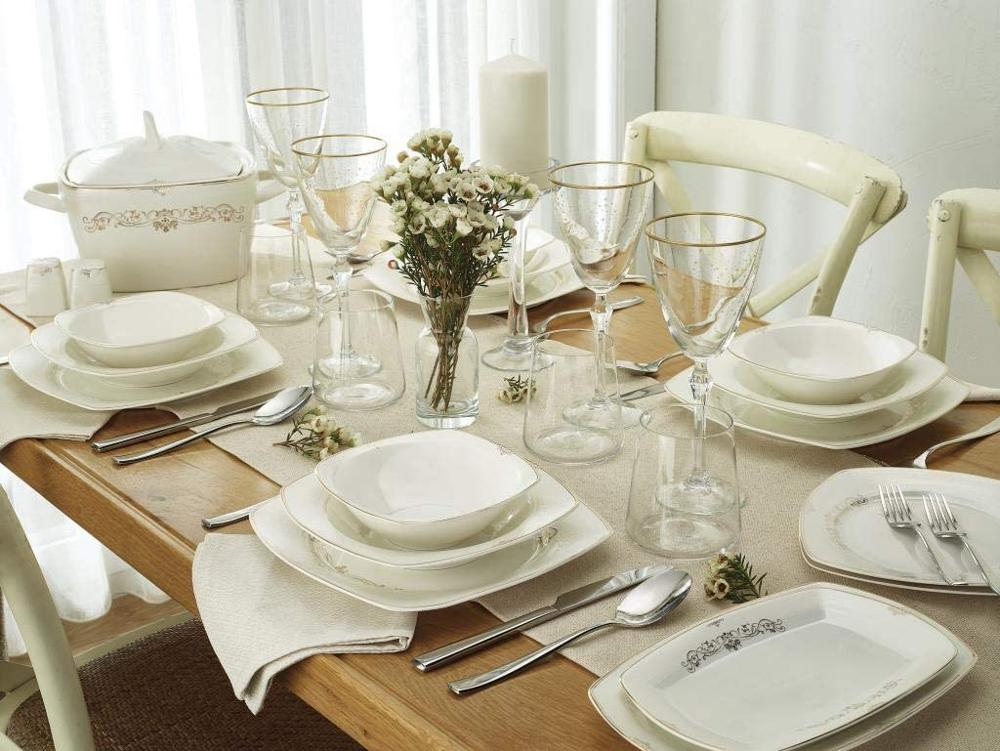 Emsan Mimoza-طقم عشاء لـ 12 شخصًا ، 60 قطعة