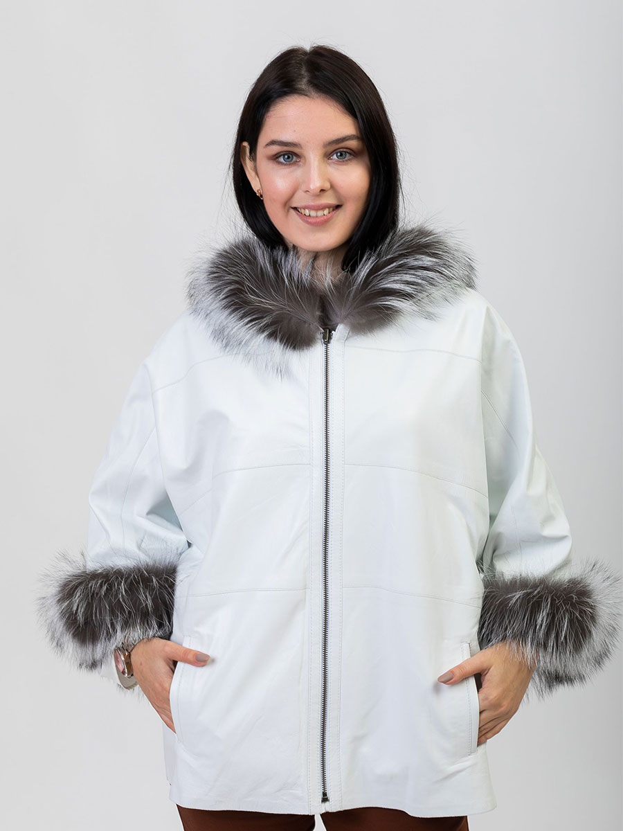 Winter Women's Winter Parka Real Fox Fur Coats With Genuine Sheepskin Leather Whole Skin 2021 Fur Coat Natural Fox Fur Jacket