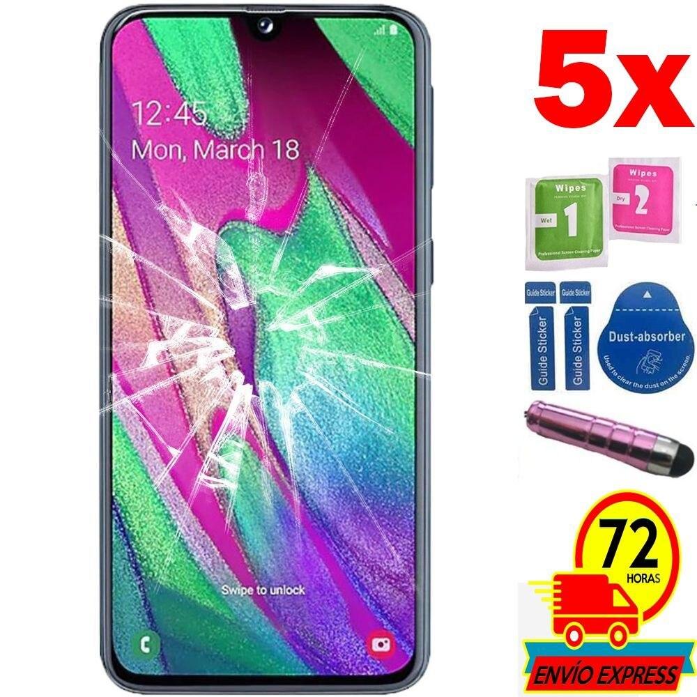 5x protecteurs écran verre trempé pour SAMSUNG GALAXY A40 2019 (Generico, pas complet voir INFO) stylo rose