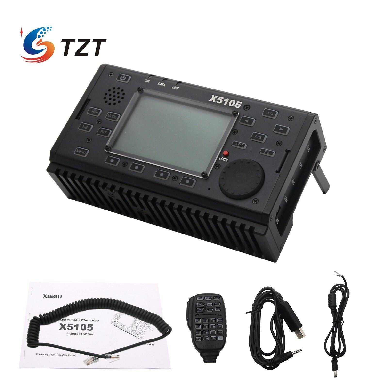 TZT TZT الموجات القصيرة جهاز الإرسال والاستقبال اللاسلكي HF مع IF إخراج جميع العصابات التي تغطي SSB CW AM FM rity PSK XIEGU X5105