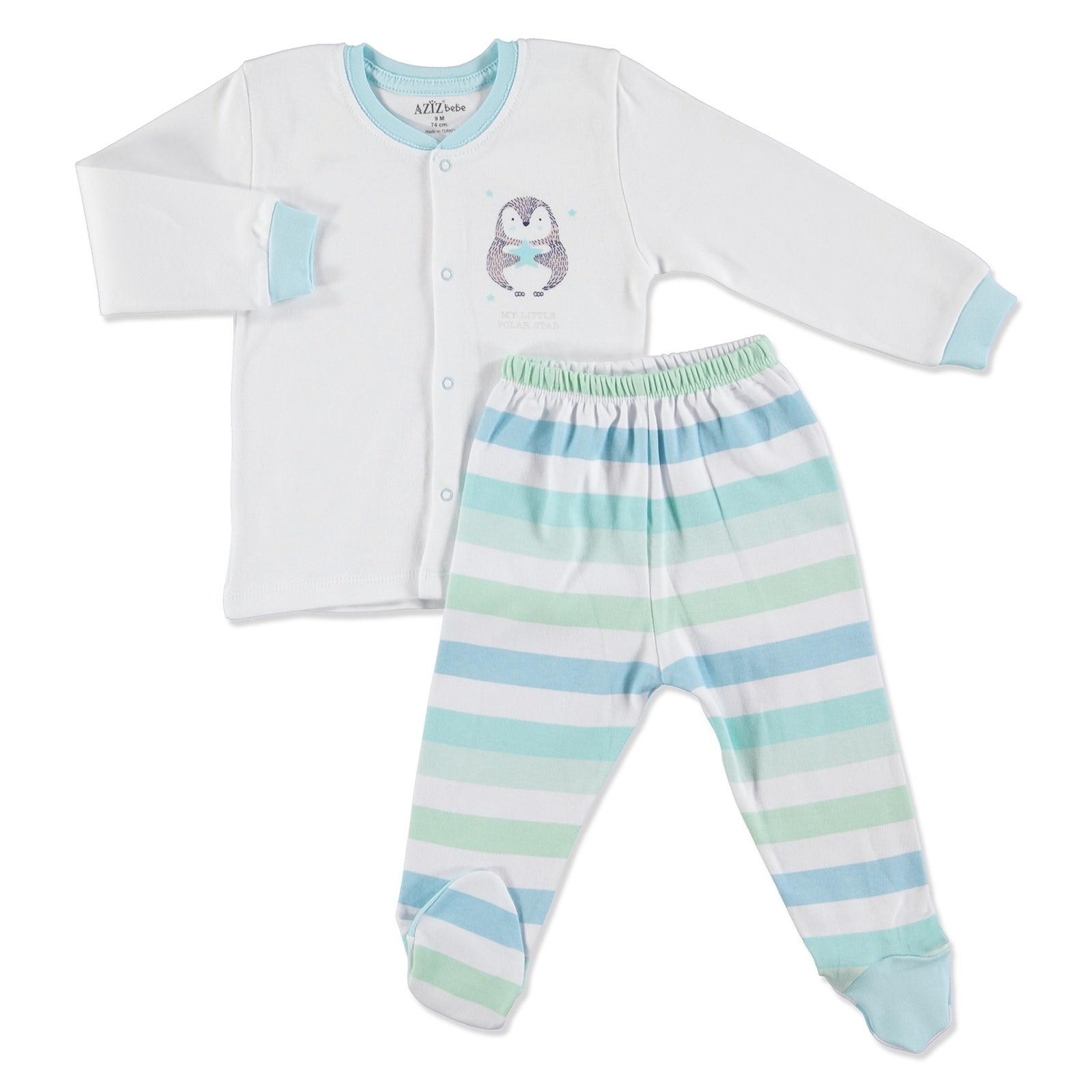 Ebebek Aziz Bebe bebé encaje Cardigan pantalón de pie 2 uds