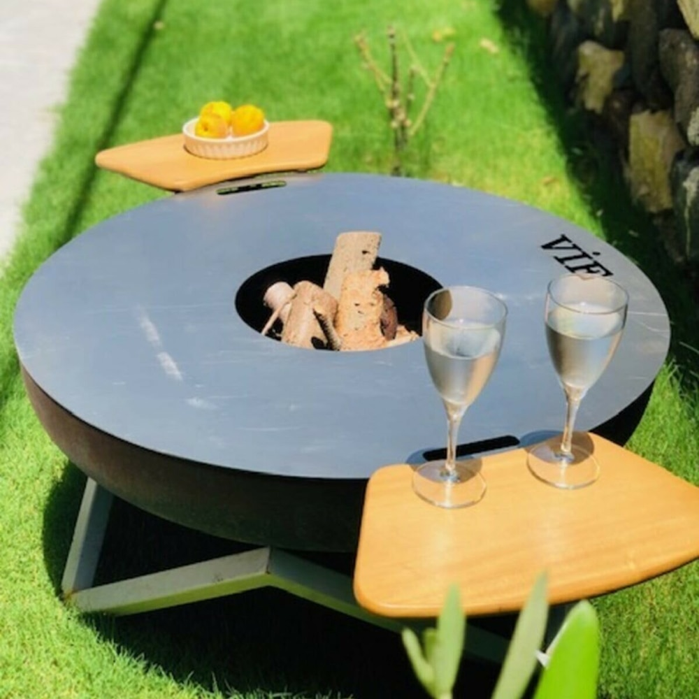 Waaw steel large bowl shaped barbecue cast iron fire pit Modern fire pit garden fireplace outdoor garden patio terrace camping